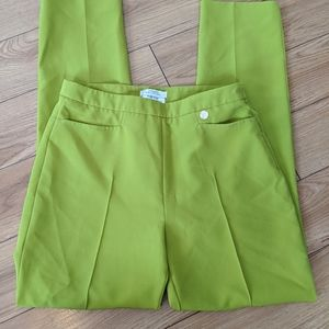 Versace collection lime green trouser pants